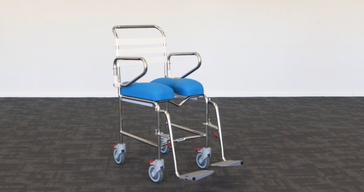 Attendant Swing Away Footrest Shower Commode