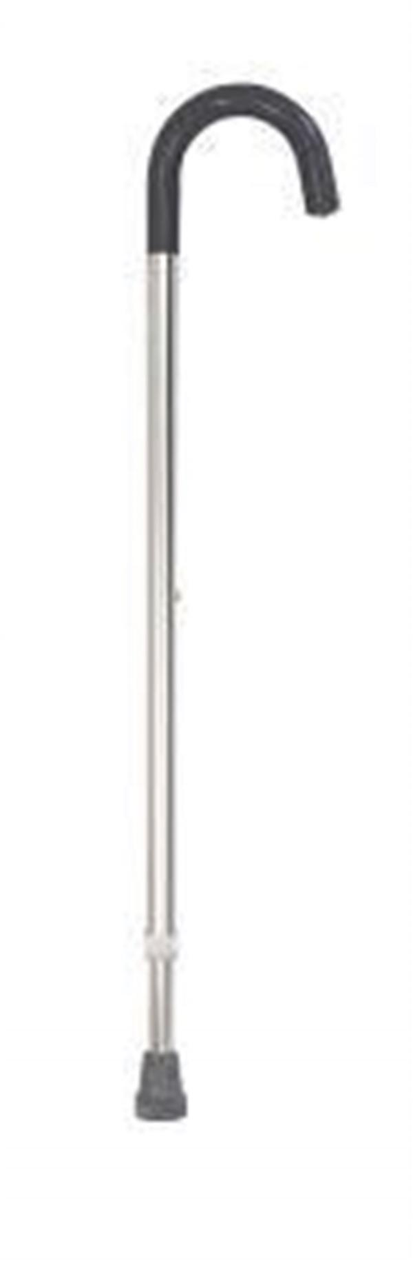 K Care Healthcare Equipment Aluminium Crook Handle Height Adjustable Walking Stick