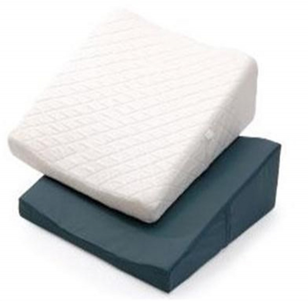 R & R Healthcare Equipment Bed Wedge White Quilted with Visco Foam Top