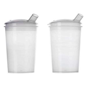 Homecraft Rolyan Clear Feeding Cup Pair