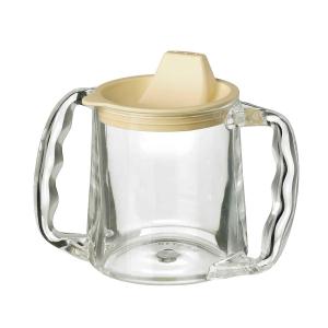 Homecraft Rolyan Clear Two Handled Caring Mug