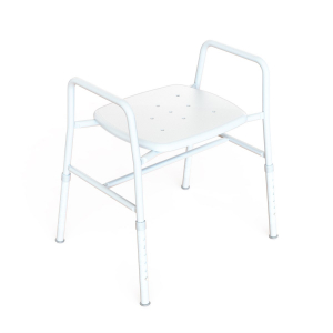 K Care Healthcare Equipment Extra Wide Shower Stool with Plastic Seat