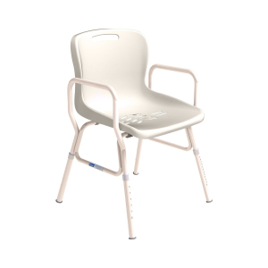 K Care Healthcare Equipment Heavy Duty Shower Chair Steel Zinc with Plastic Seat
