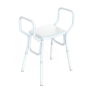 K Care Healthcare Equipment Heavy Duty Shower Stool with Arms and Clip-on Seat