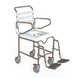 K-Care Junior Mobile Shower Commode Push Chair - Attendant Propelled