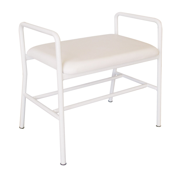K Care Healthcare Equipment Maxi Shower Stool Padded Seat with Arms Zinc