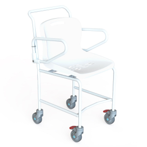 K Care Healthcare Equipment Mobile Shower Chair with Plastic Seat