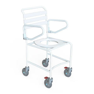 K Care Mobile Shower Commode Push Chair - Attendant Propelled