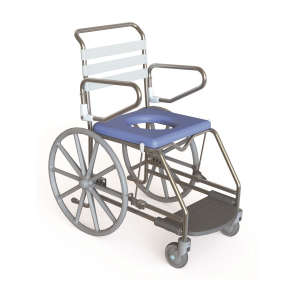 K Care Mobile Shower Commode Self Propelled Swing up Arms
