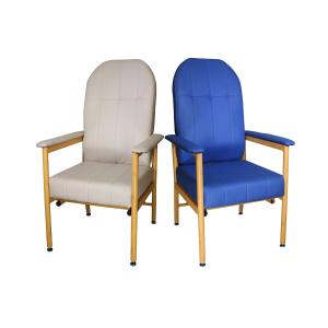 R & R Healthcare Equipment Murray Bridge Aluminium High Back Chair Vinyl