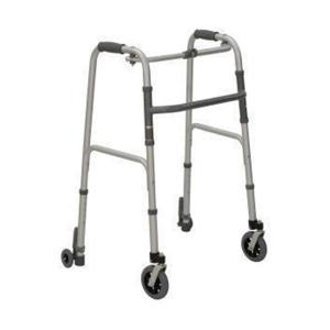 My Mobility Walking Frame with rear push-down braking wheels