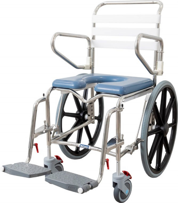 Self Propelled Height Adjustable Shower Commode