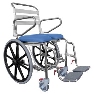 K Care Mobile Shower Commode Self Propelled Rear Wheels