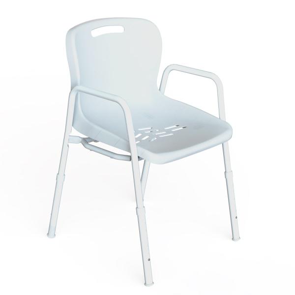 K Care Healthcare Equipment Shower Chair Aluminium Frame Plastic Seat
