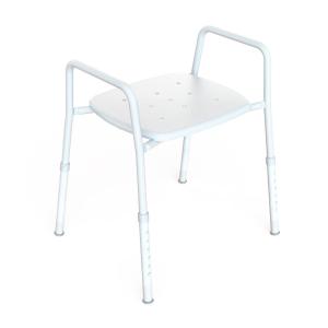 K Care Healthcare Equipment Shower Stool Steel Zinc Plastic Seat Wide