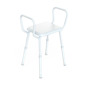 K Care Shower Stool With Arms and Clip-on Seat