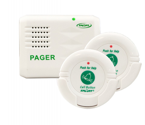 Two Call Buttons and Pager Kit for the Elderly